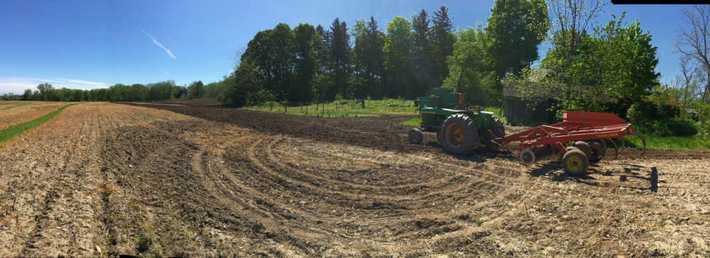 Tillage work underway at Gold Brook Farm.